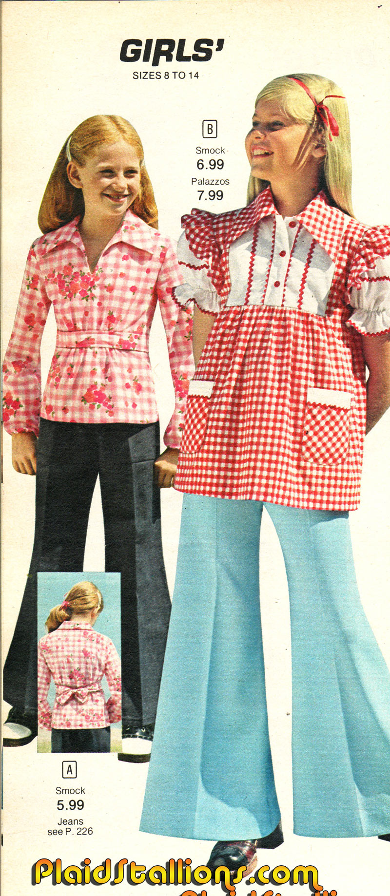Back TO School fashions 1970s