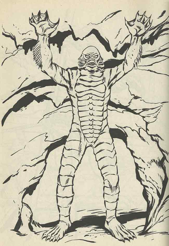 creature from the black lagoon coloring pages colouring book theatre creature from the black lagoon