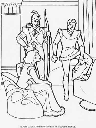 flash gordon coloring pages free - photo#31