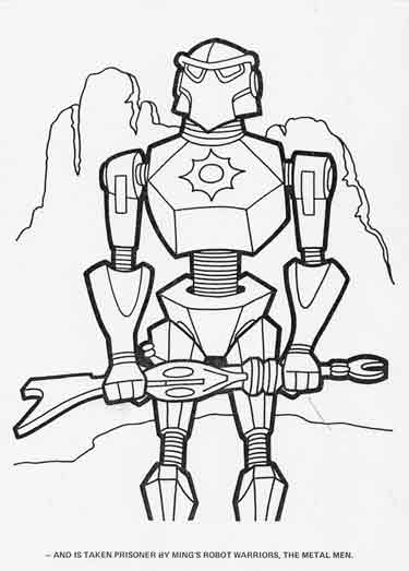 flash gordon coloring pages free - photo#37