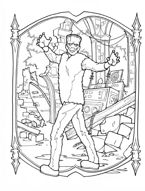 frankenstien coloring pages - photo#14