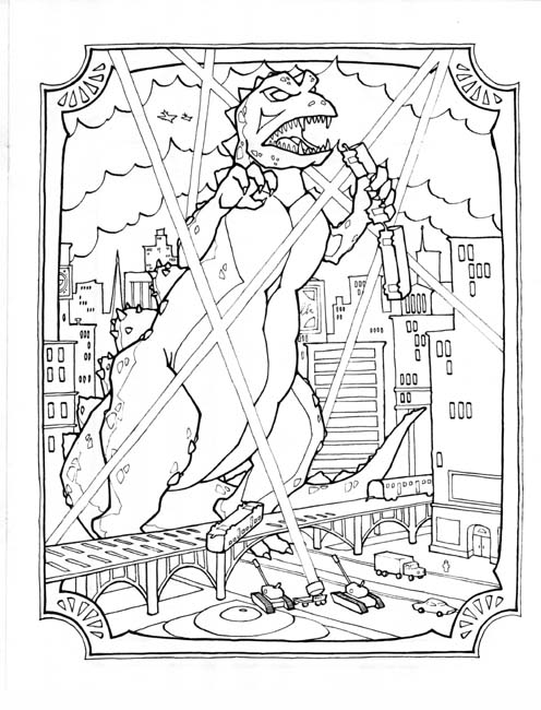 godzilla 2014 coloring pages to print coloring pages