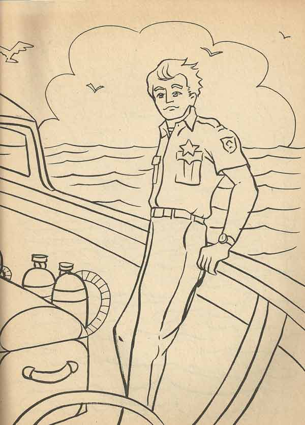 Colouring book theatre jaws 2 for Jaws coloring pages