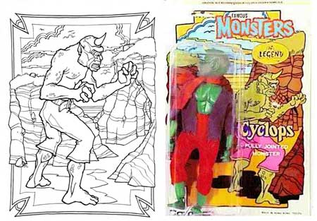 Cyclops I Doubt Any Royalties Were Paid To Harryhausen Unlike Almost Every Other Colouring Book