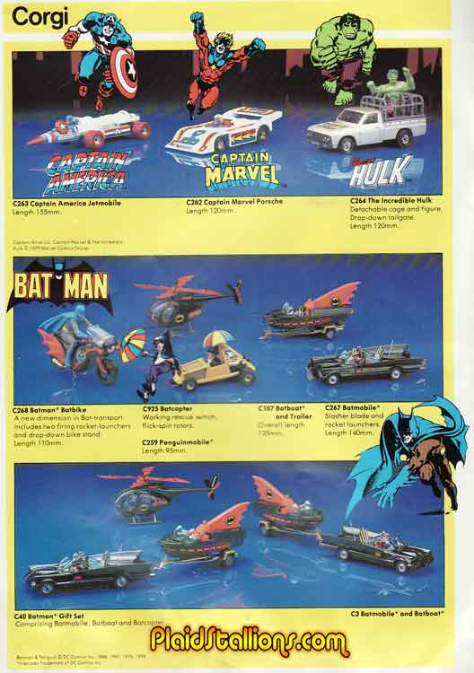 Corgi Marvel Cars