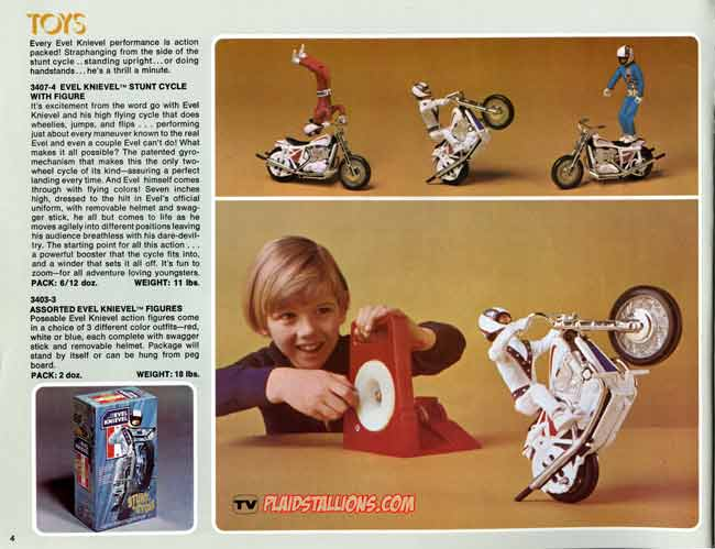 Ideal Evel Knievel toys. If you were a boy in the 1970's