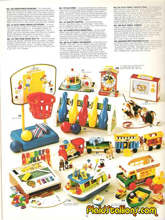 These pre school toys and little people sets would be sold for much of