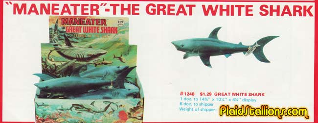 Jaws Rubber Shark Toy : Plaid stallions rambling and reflections on s pop