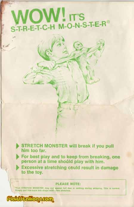 kenner stretch Monster instructions