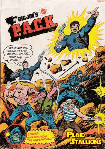 cover to the Big Jim Pack comic from Mattel