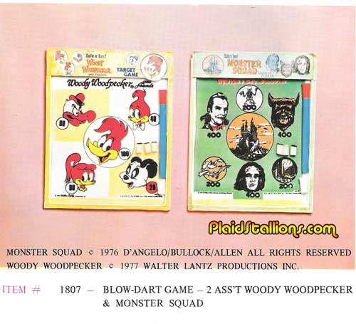 monster squad blow dart game