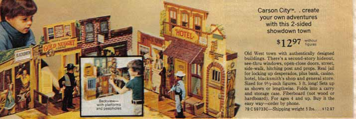 Carson City playset for gabriel Lone Ranger