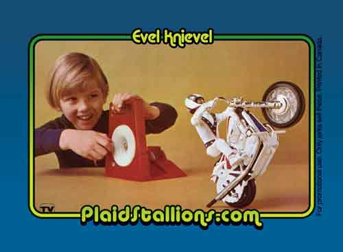 evel knievel trading card