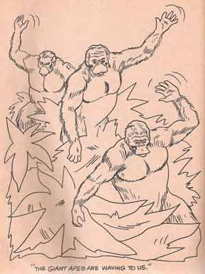 planet of the apes colouring book