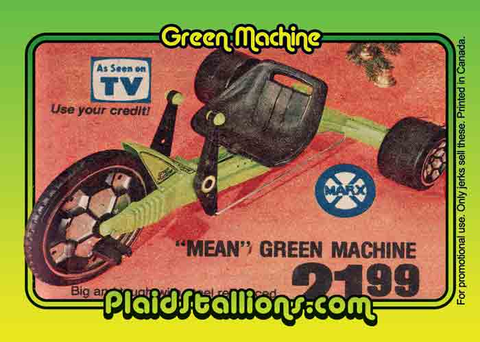 Green Machine Trading Card