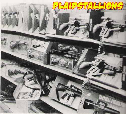 the toy gun aisle