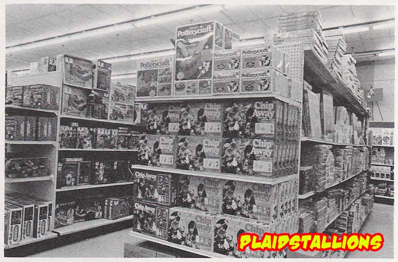 Hasbro GI Joe aisle in 1975