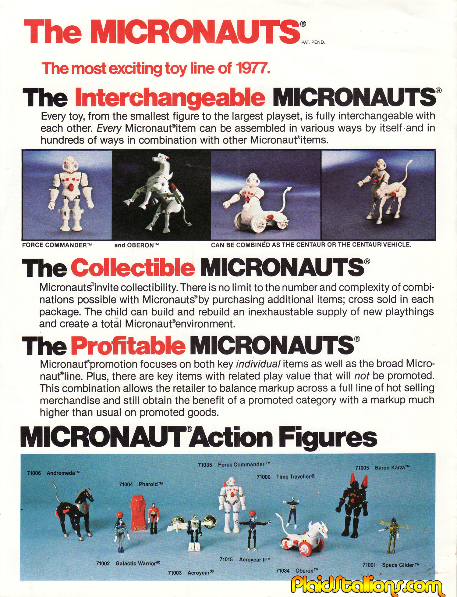 Mego Micronauts sales piece from 1978