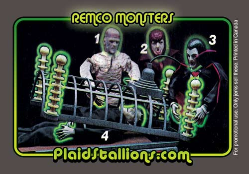 Remco Monsters Trading Card