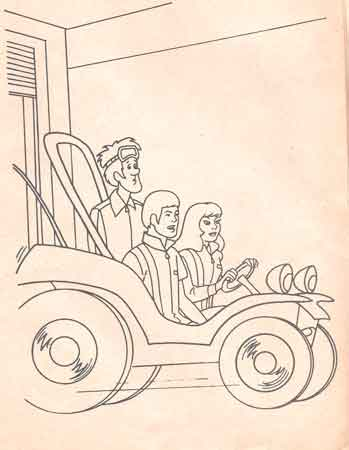 speed buggy colouring book