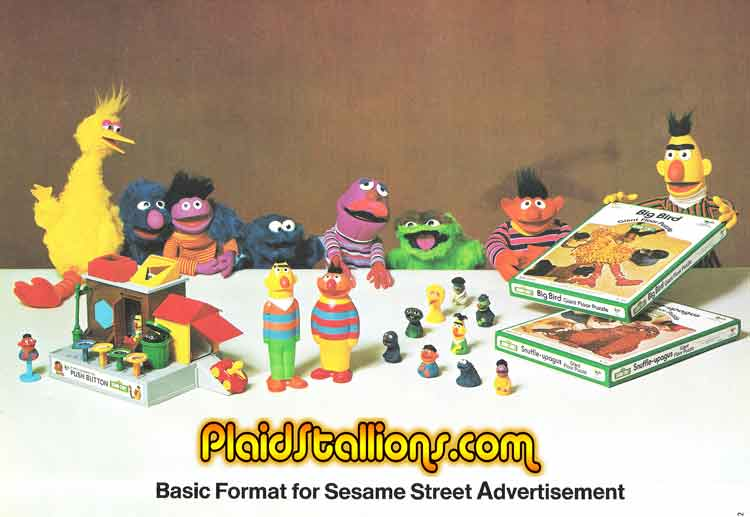 sesame street toys by child guidance
