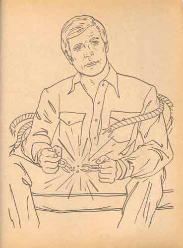 six million dollar man colouring book