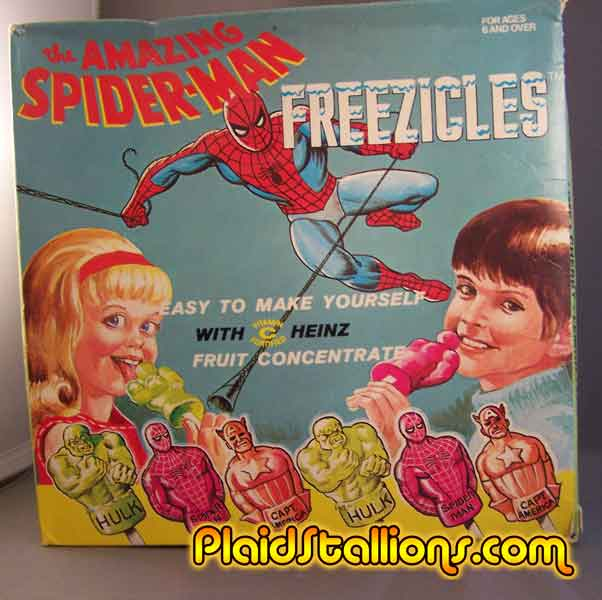 spiderman freezies