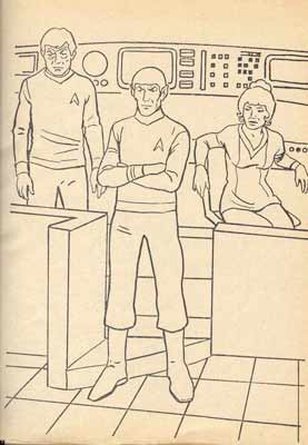 star trek colouring book