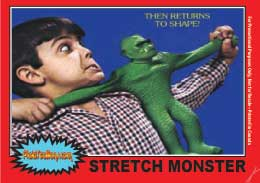 kenner Stretch Monster trading card