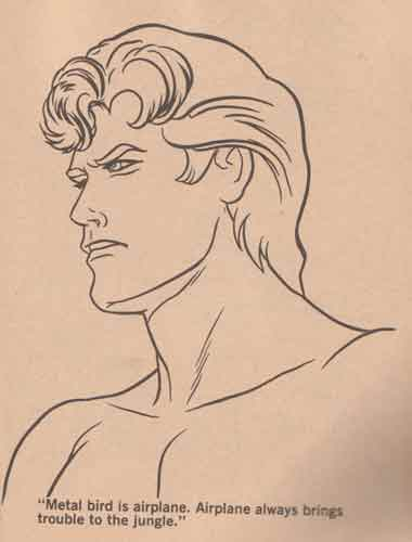 tarzan colouring book