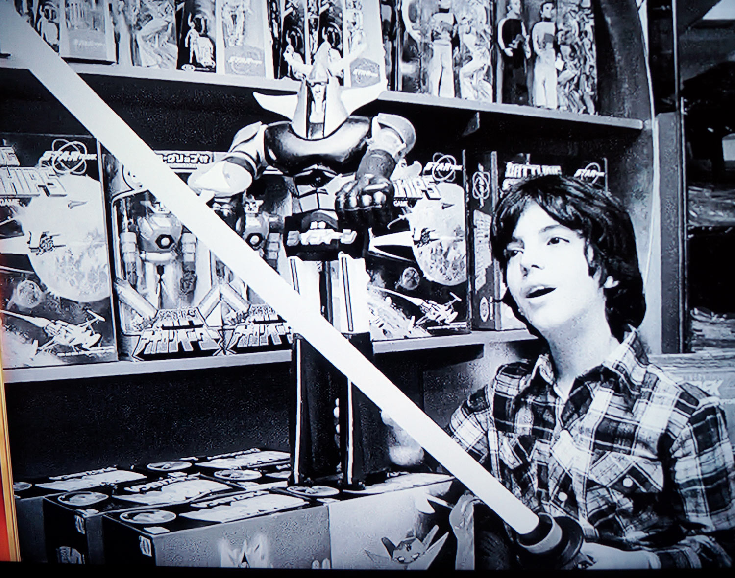 Star Team and Shogun Warriors in a toy store 1977