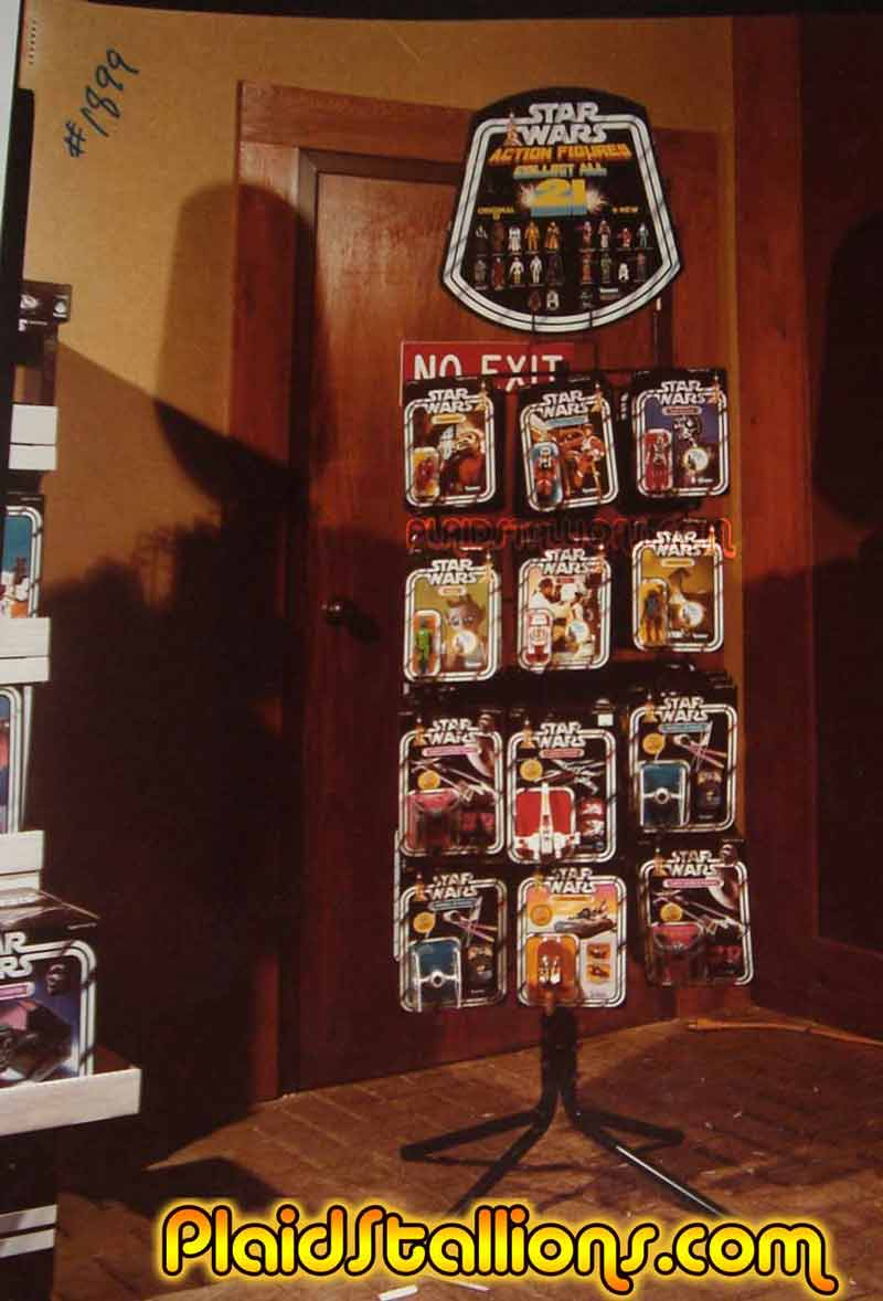 Kenner Star Wars toy display rack from 1978