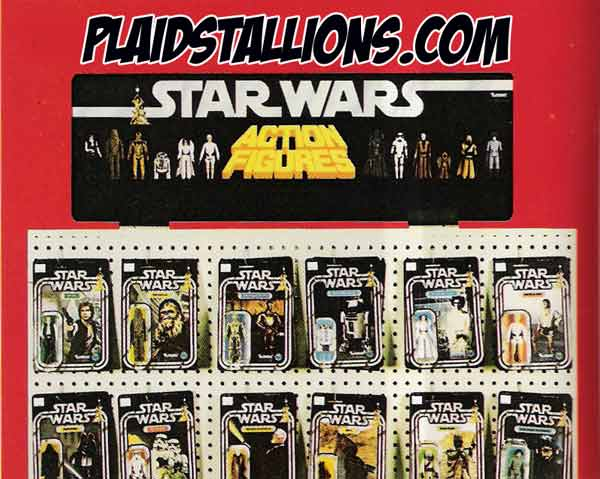 vintage kenner star wars display