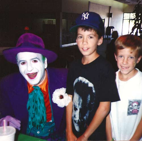 The Joker at a buffalo mall appearance