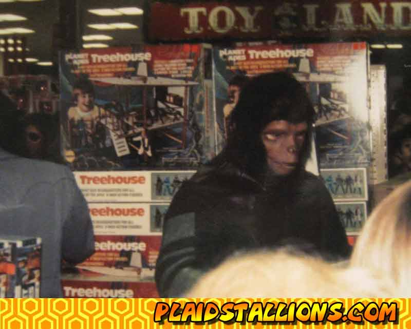 Planet of the apes store appearance for mego