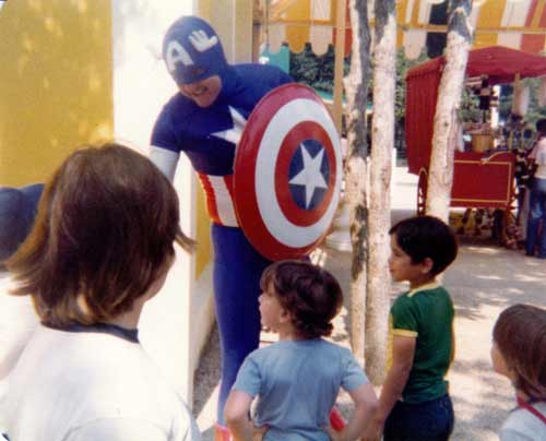 Captain America at Six Flags
