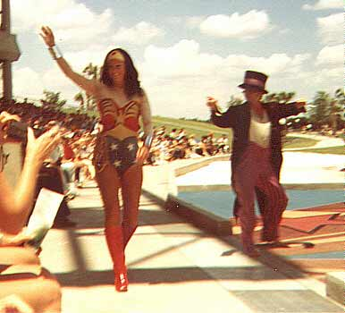 Wonder Woman at sea world