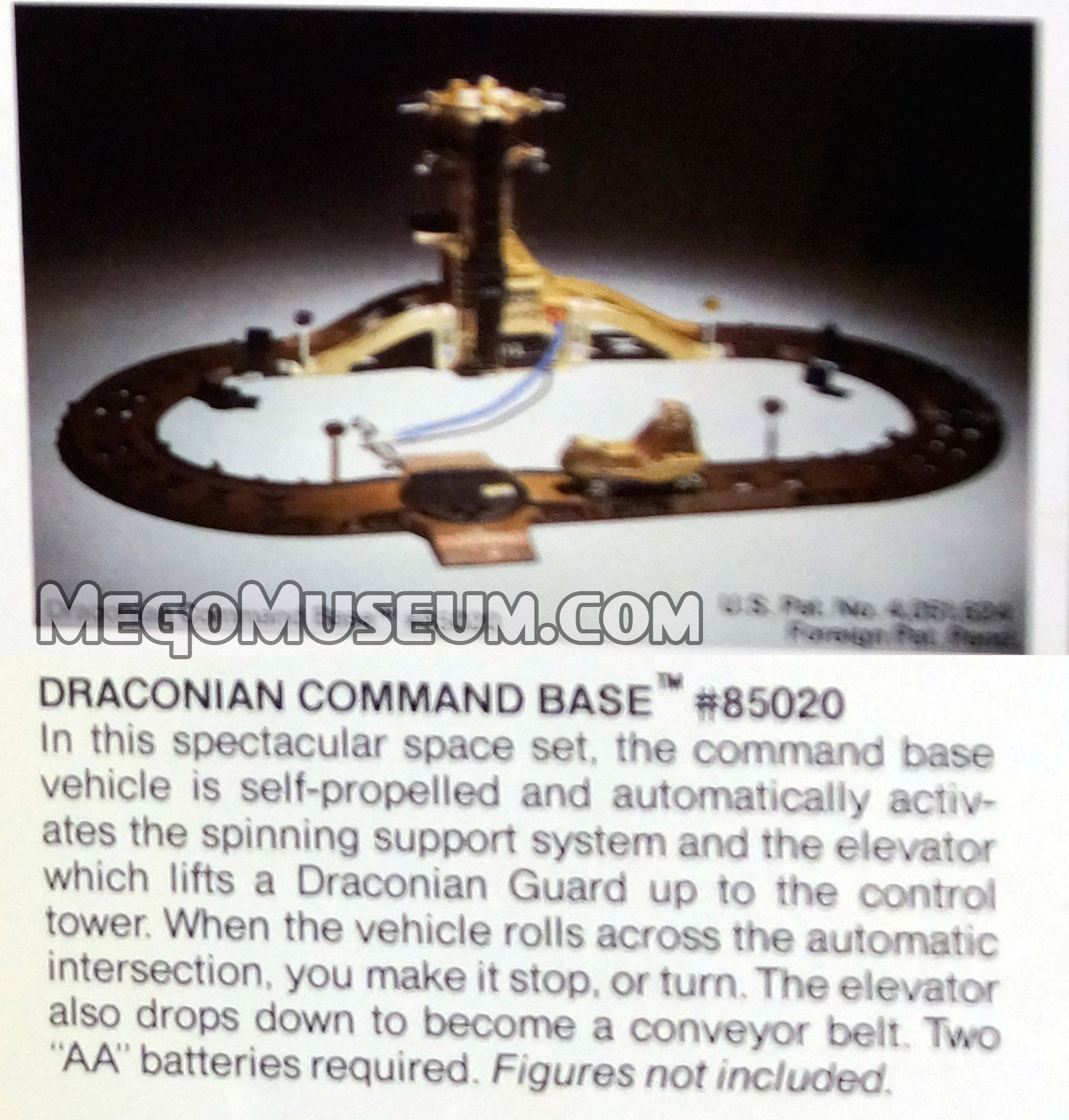 draconian command base yup another repaint of a micronauts play set this time itus a strata station done up in the traditional tan and black of the