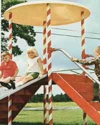 retro playground equipment