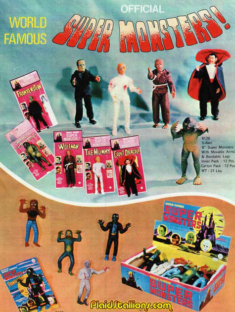 THe azrak hamway monsters from the 1975 catalog