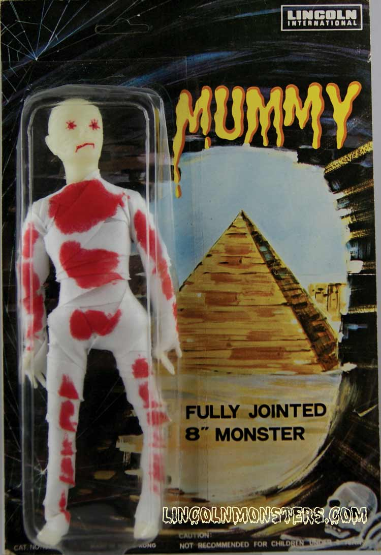 Carded Lincoln International Mummy figure