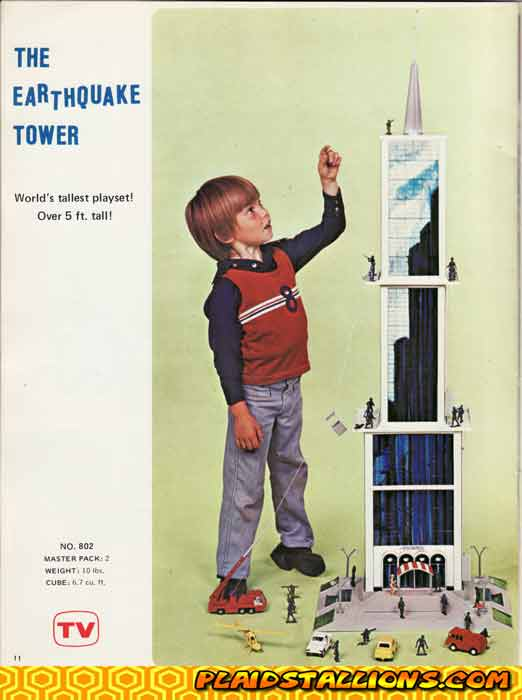 Remco I Earthquake Tower I 1976 Catalog I Plaidstallions.com